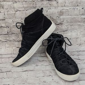 Joie Black high top sneaker / suede trainers